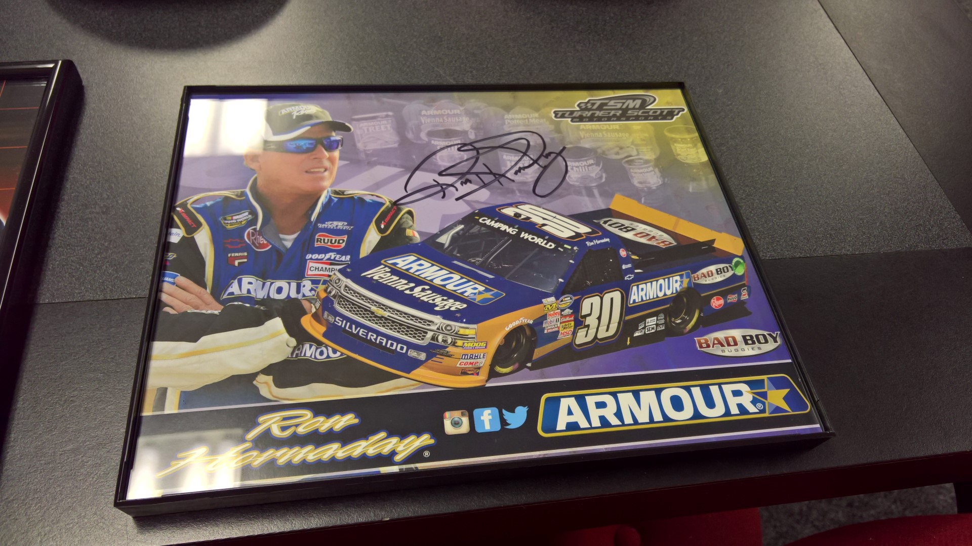 Ron Hornaday Signed Hero Card