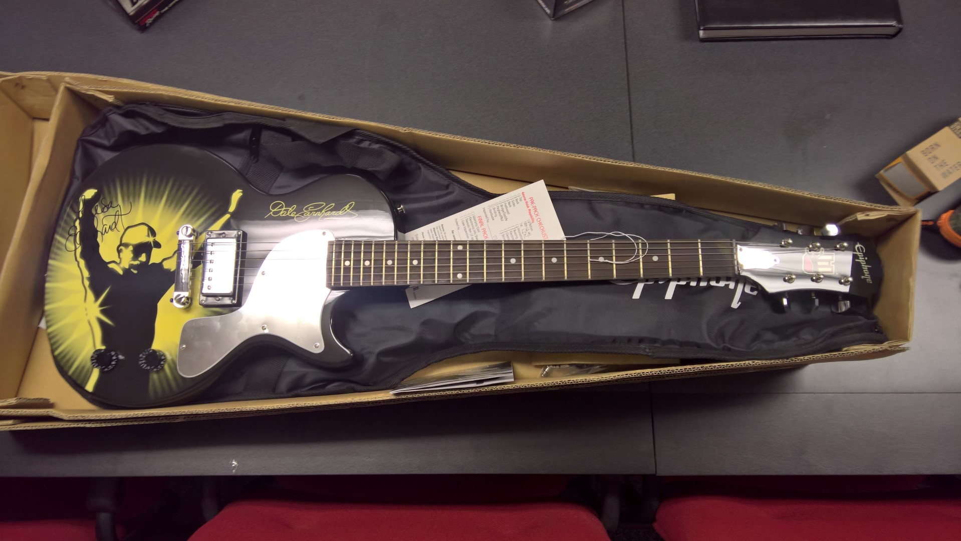Signed Dale Earnhardt Tribute Guitar