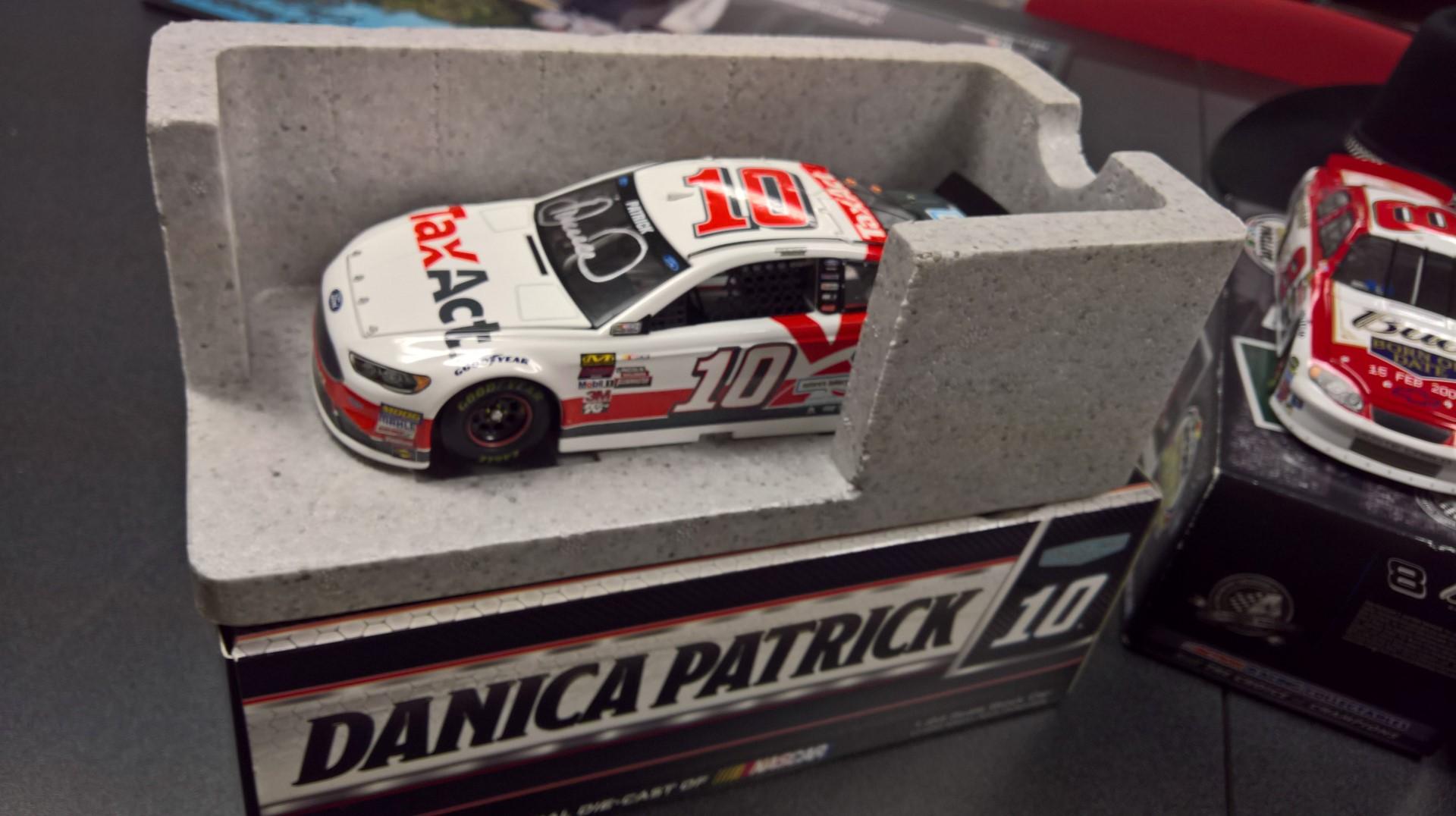Signed 1/24 Scale Danica Patrick TaxAct Diecast