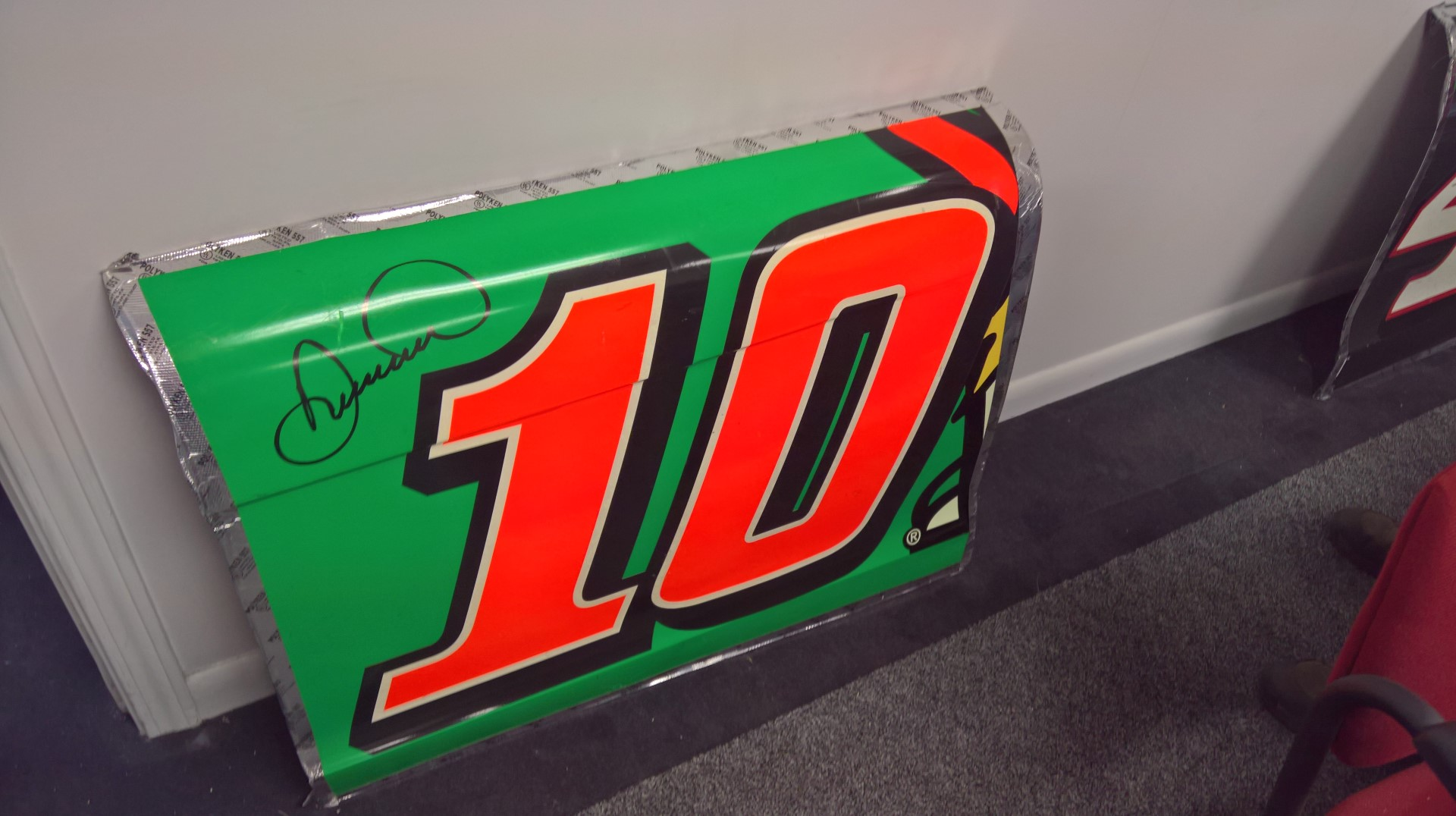 Signed Danica Patrick Sheet Metal