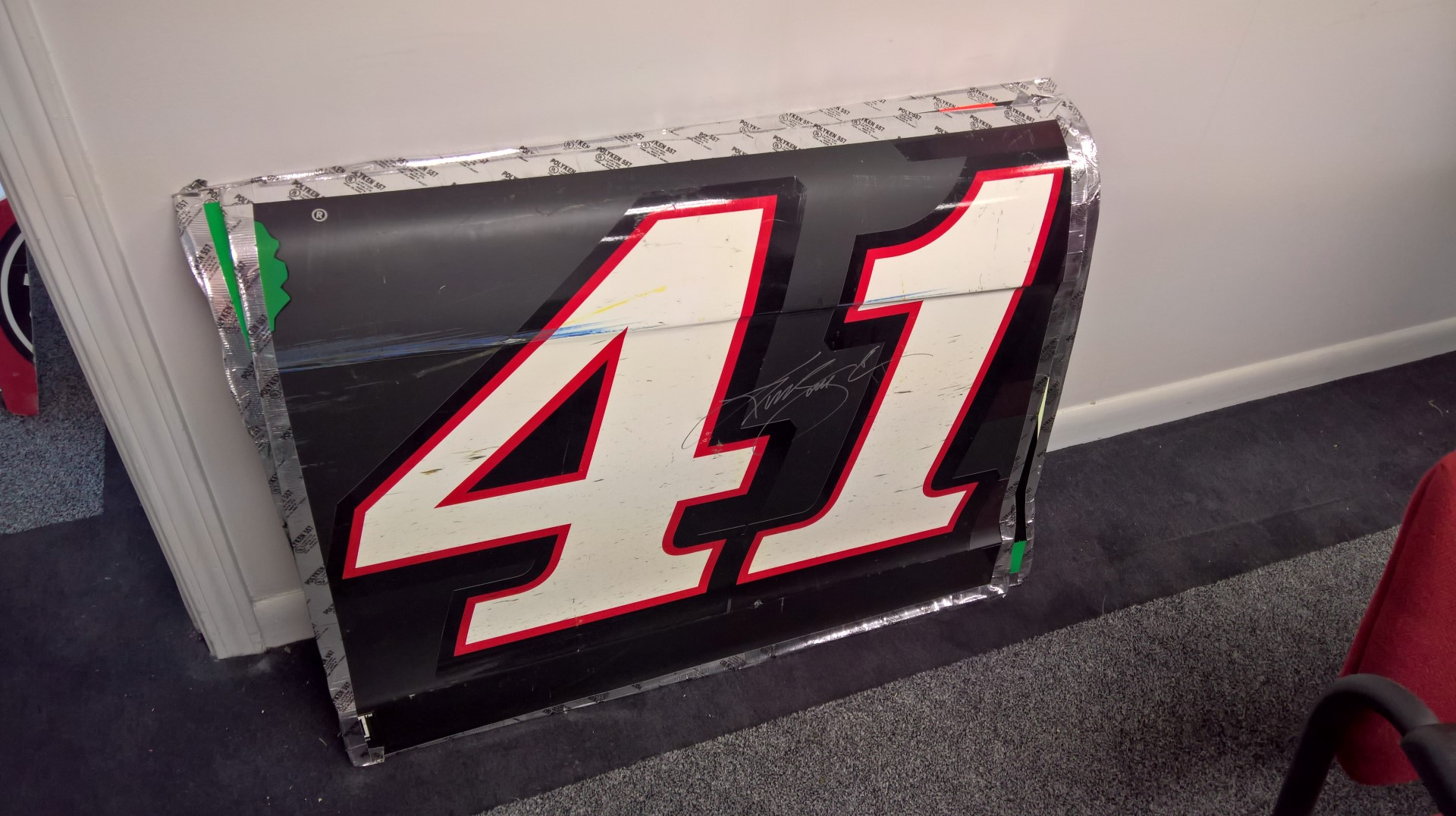 Signed Kurt Busch Sheet Metal