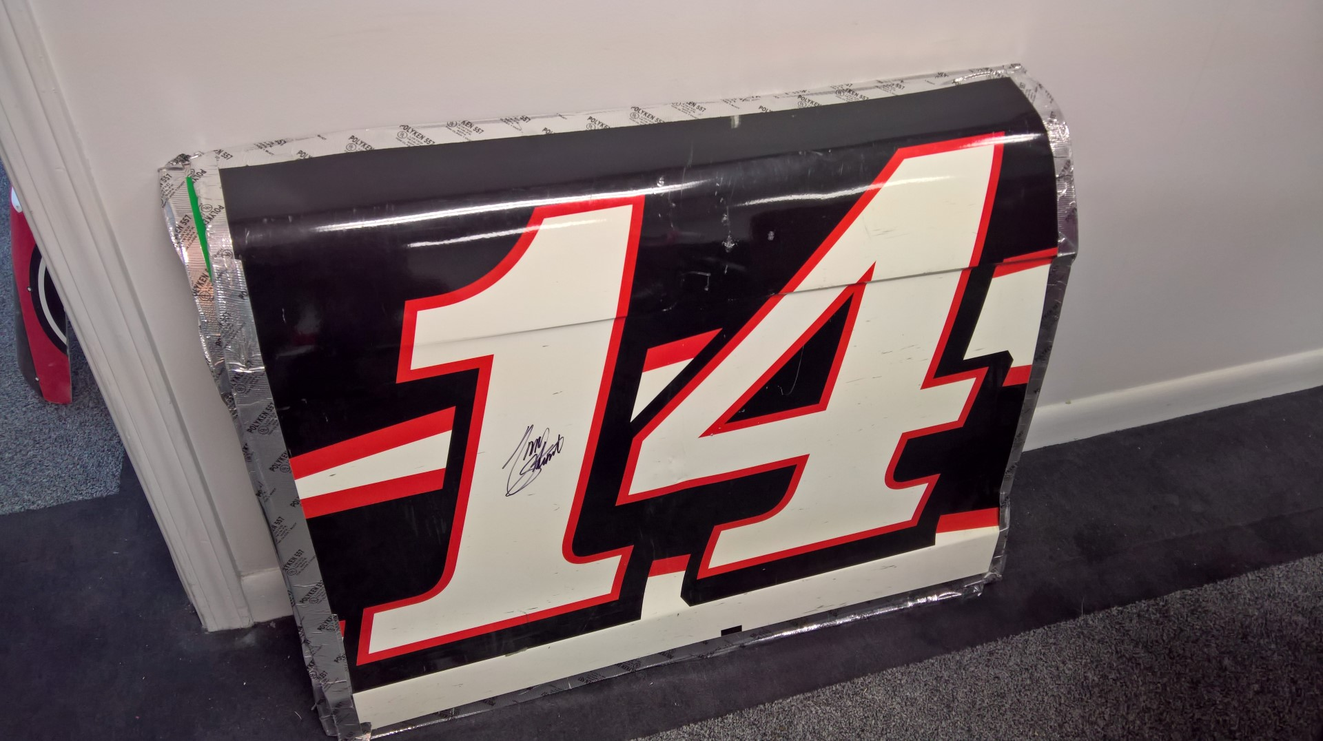 Signed Tony Stewart Sheet Metal
