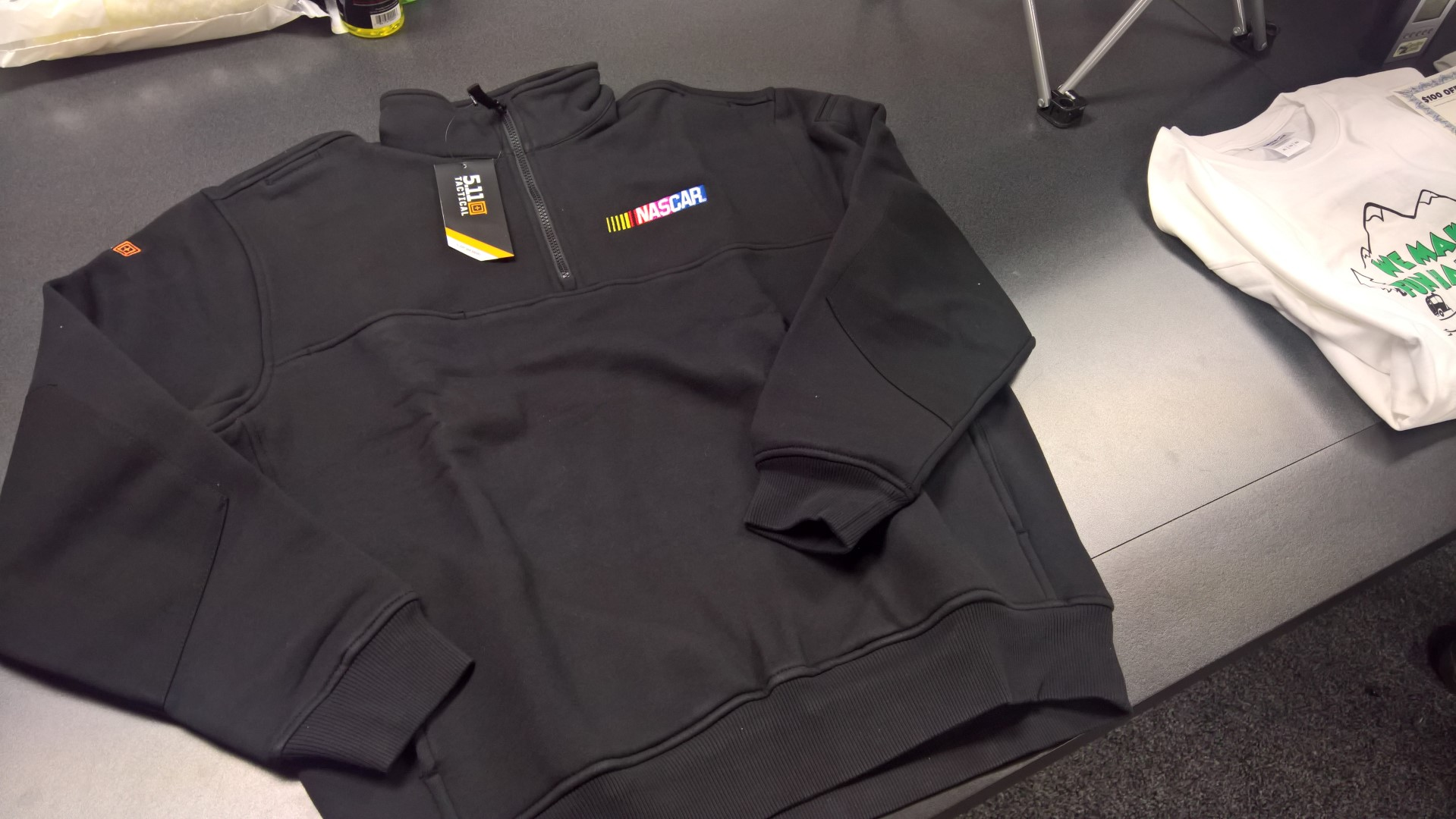 5.11 Tactical NASCAR 1/4 zip Job Shirt Size L