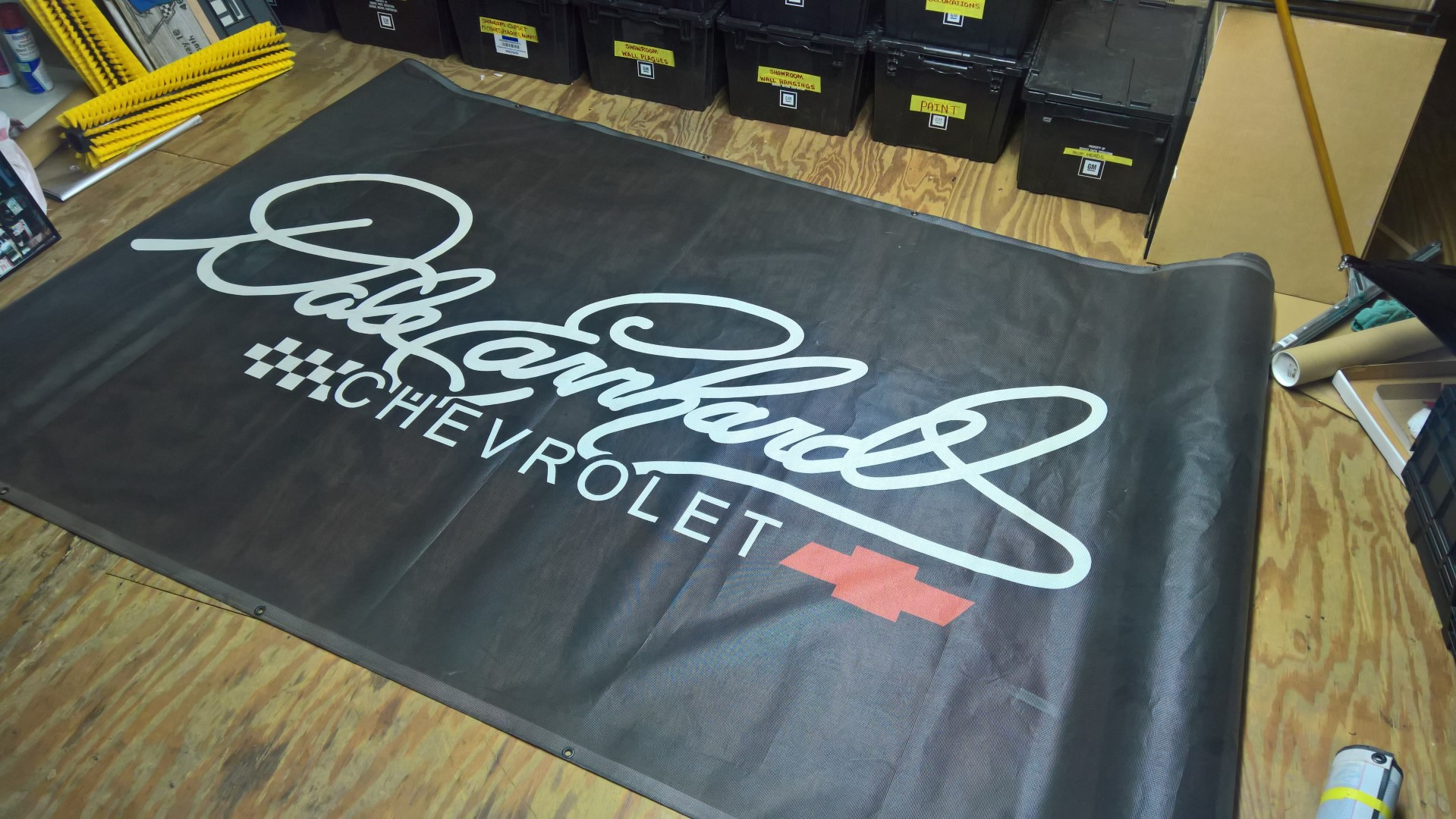 Dale Earnhardt Chevy Double Logo Mesh Banner