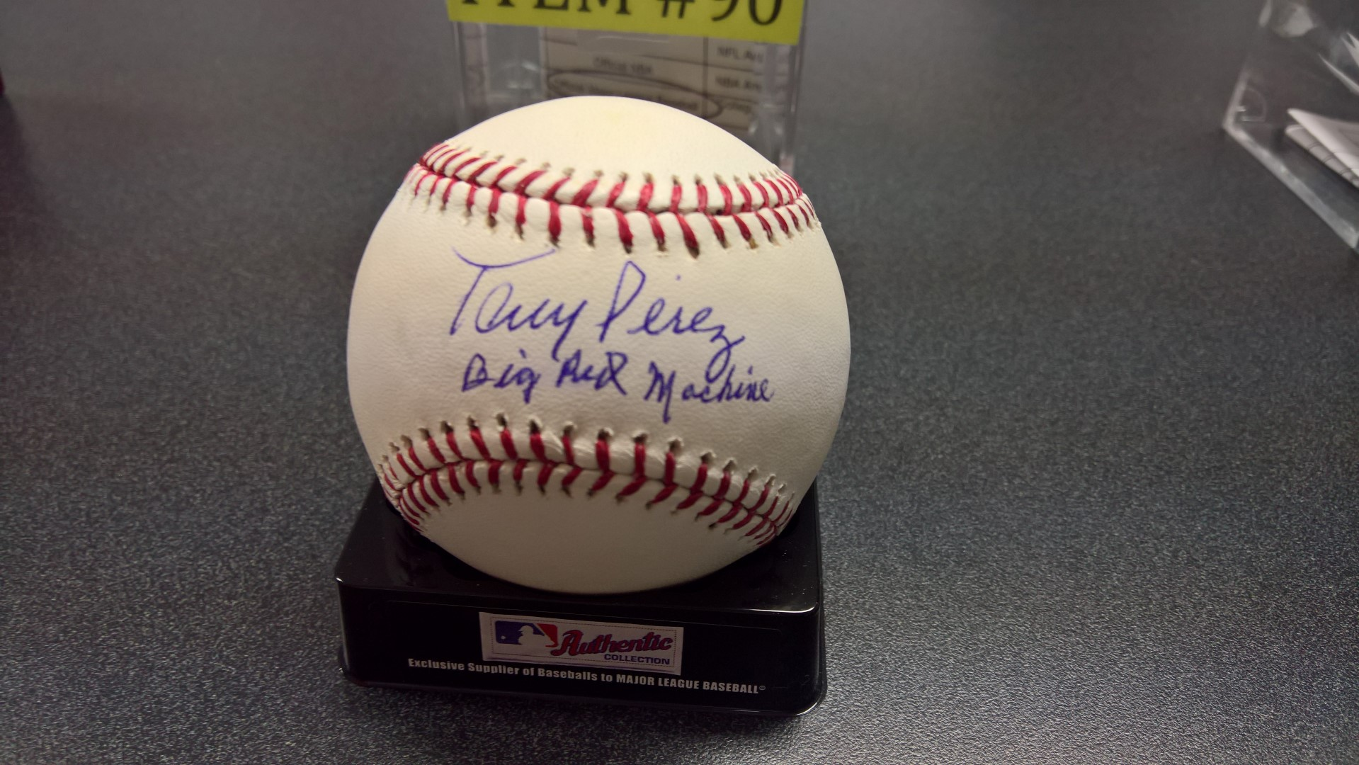 Autographed Official MLB Baseball by Tony Perez