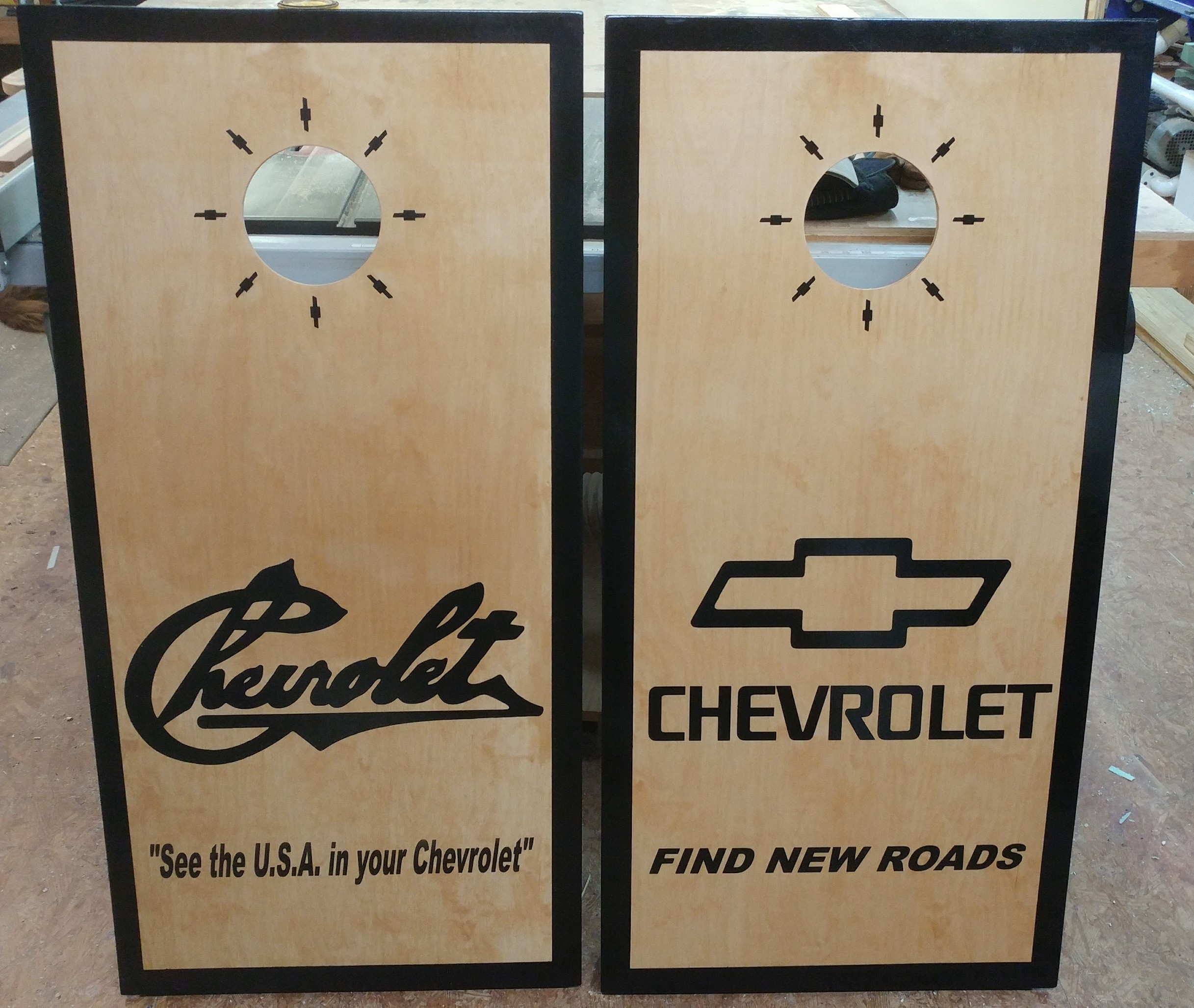 Custom Made Wood Chevrolet Cornhole Boards