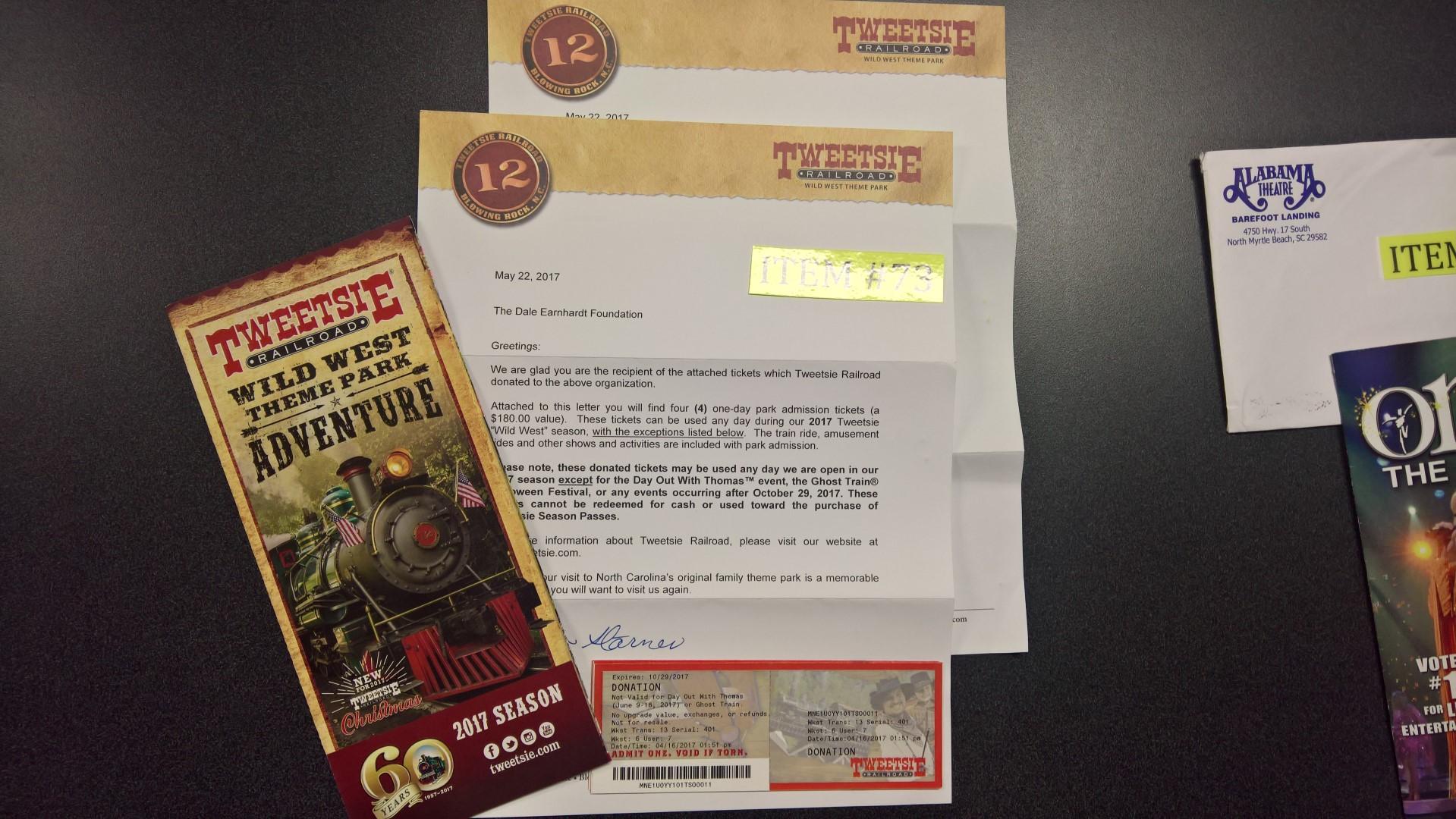 4 Tickets to Tweetsie Railroad in Blowing Rock, NC