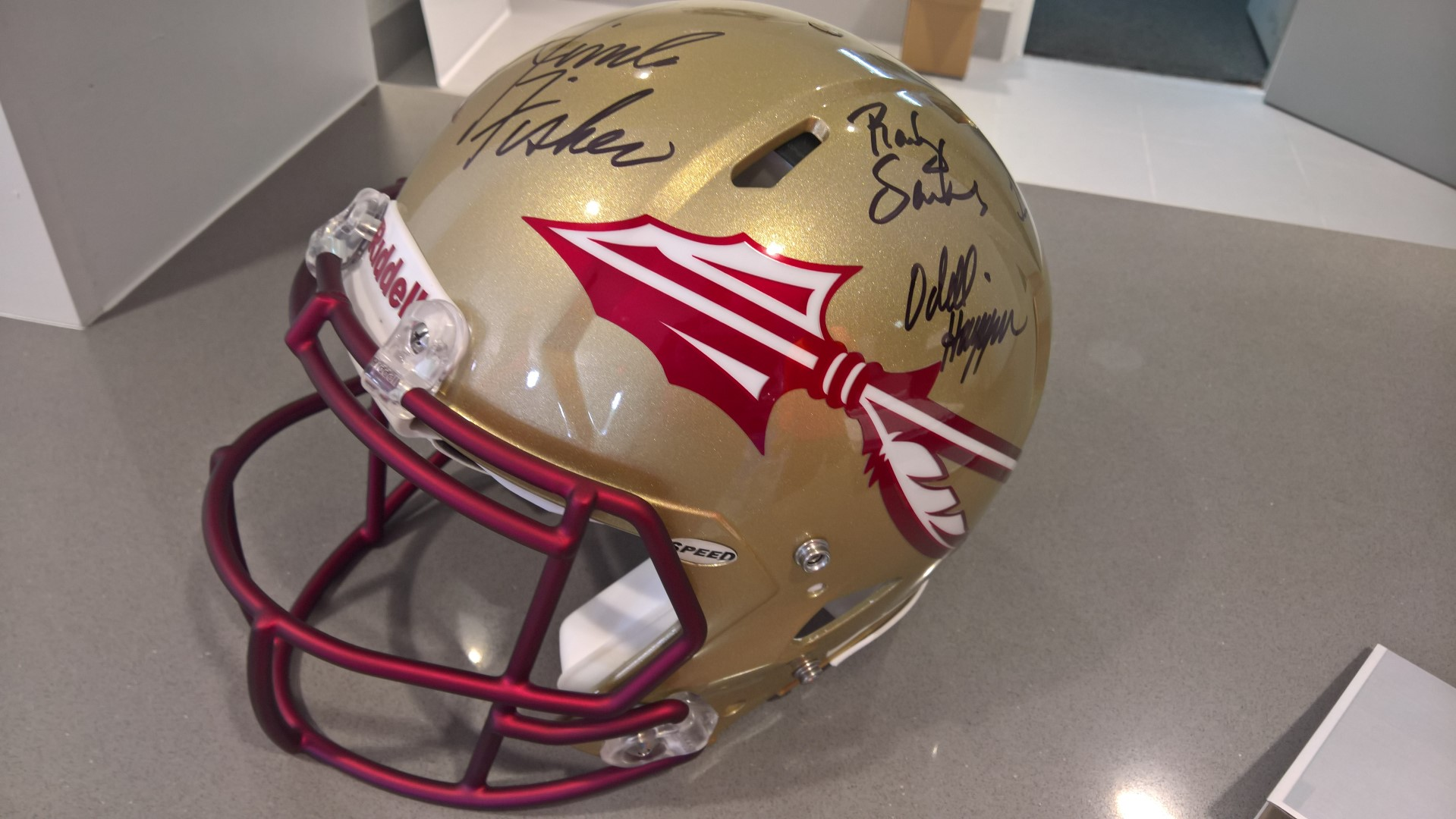 Signed Official Game Ready Florida State Seminoles Football Helmet