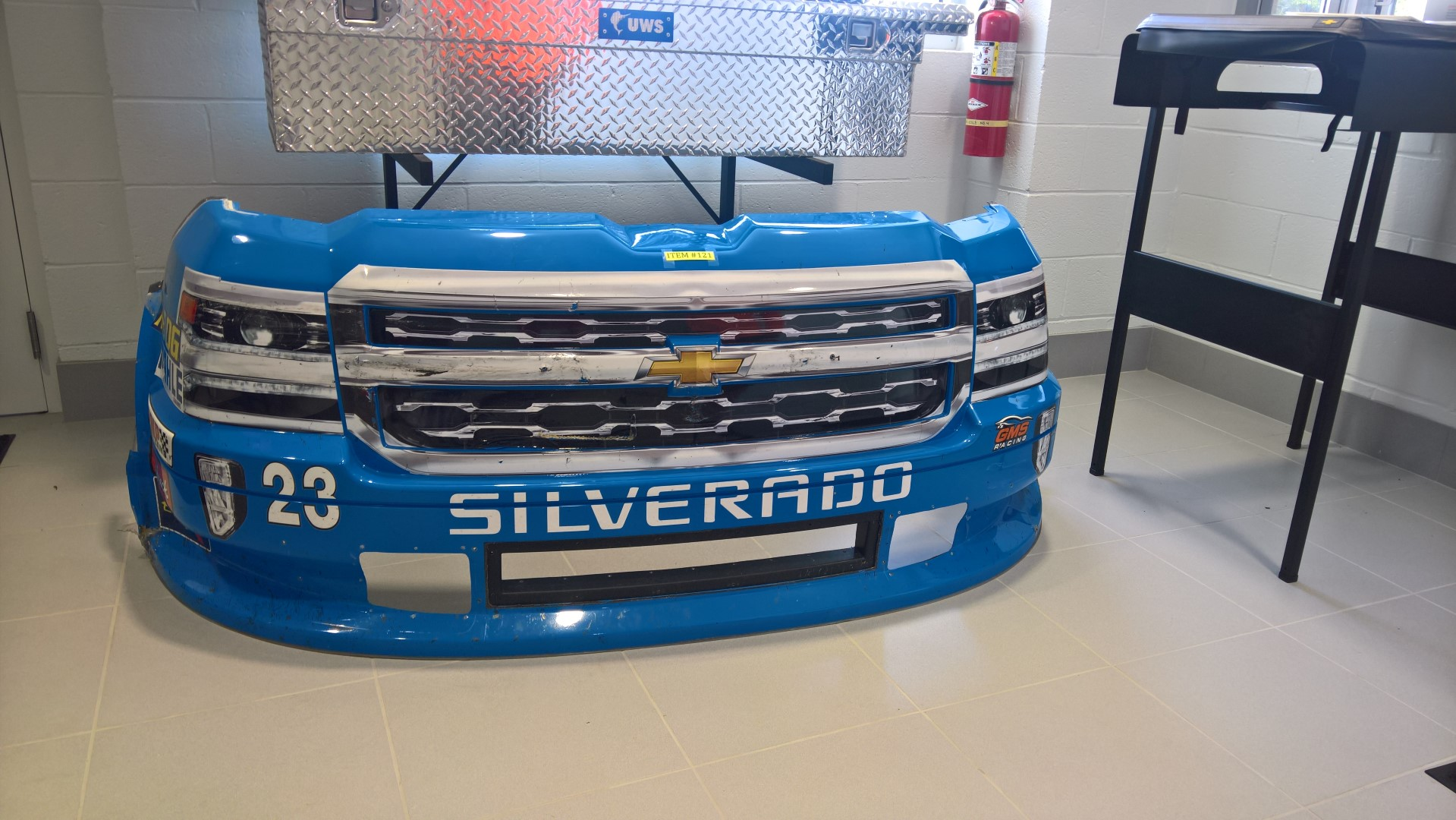 Sheet metal from Race Winning #23 Allegiant Airlines driven by Chase Elliot