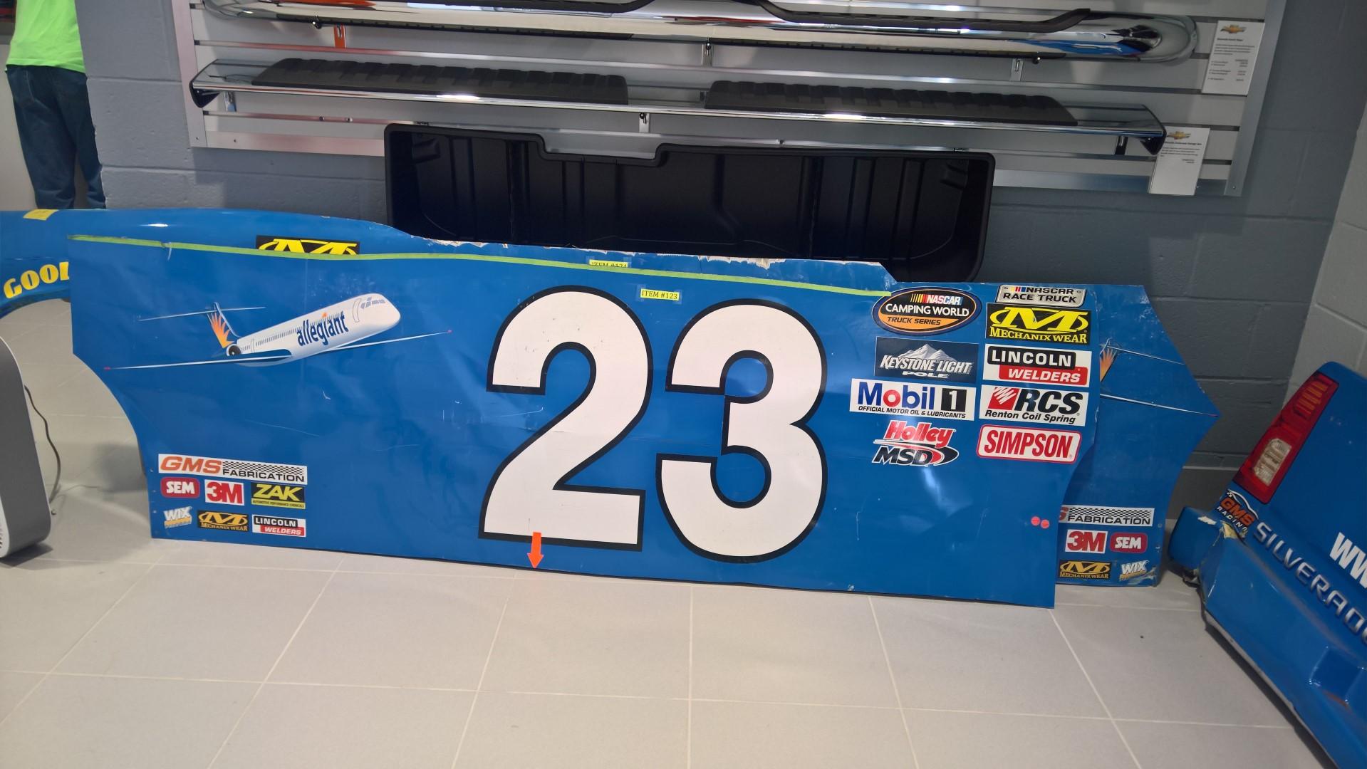 Side Panel of Race Winning Truck of Chase Elliott