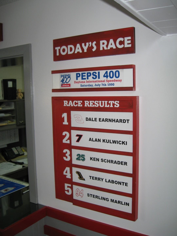 Custom Dale Earnhardt Chevy Race Board