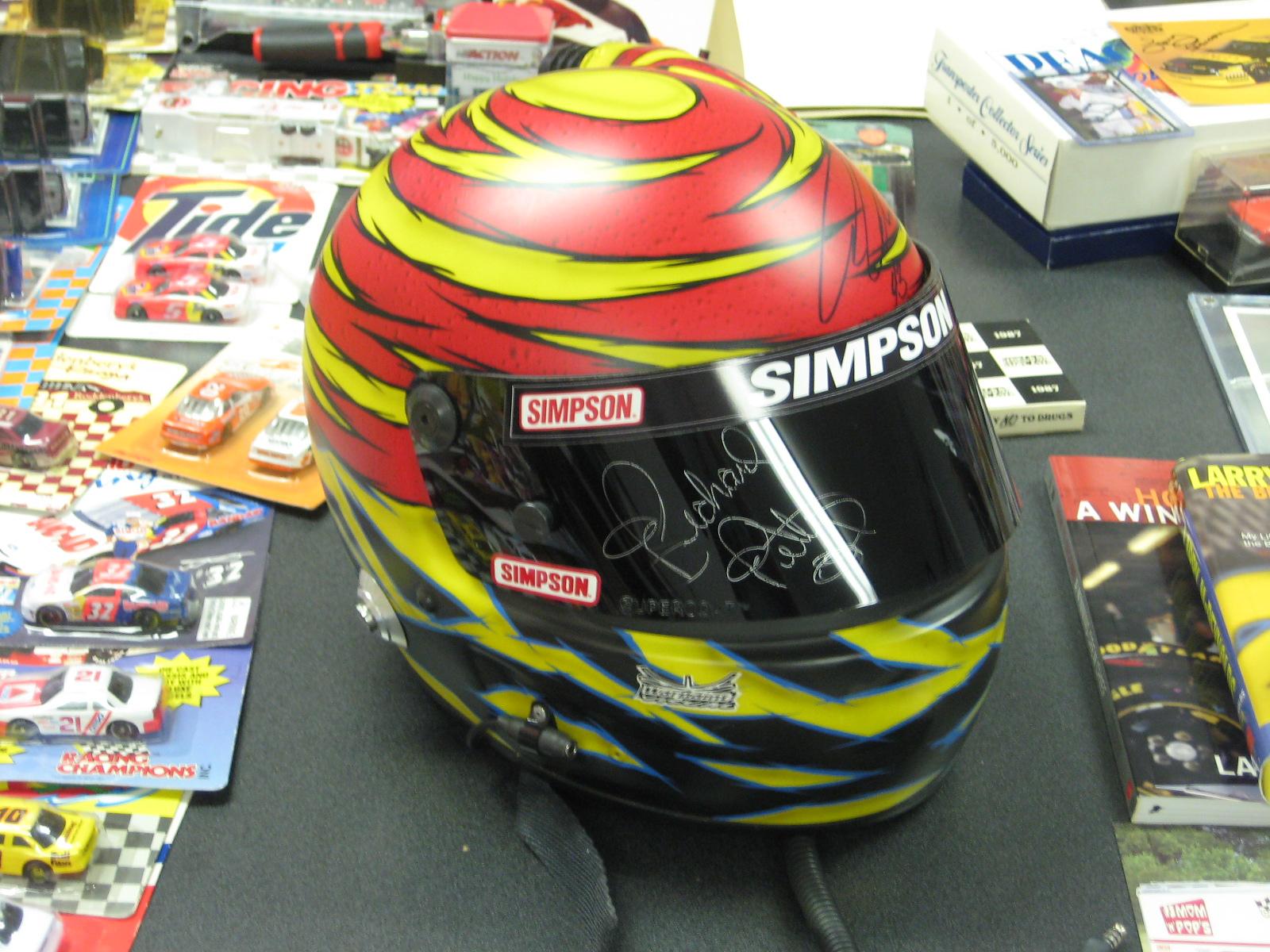 Signed Authentic Aric Almirola Race Used Helmet