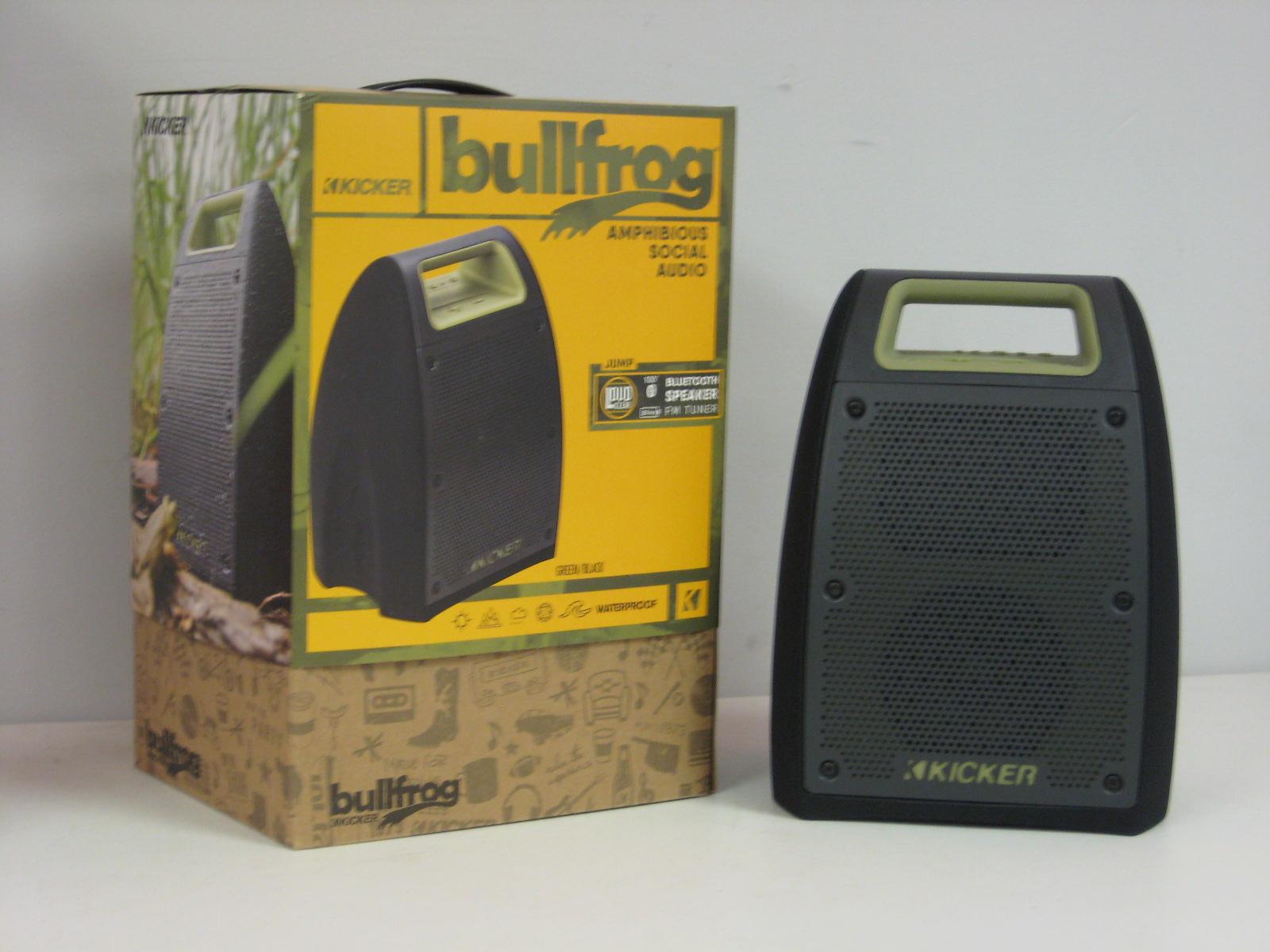 Kicker Bullfrog Bluetooth Speaker & FM Tuner