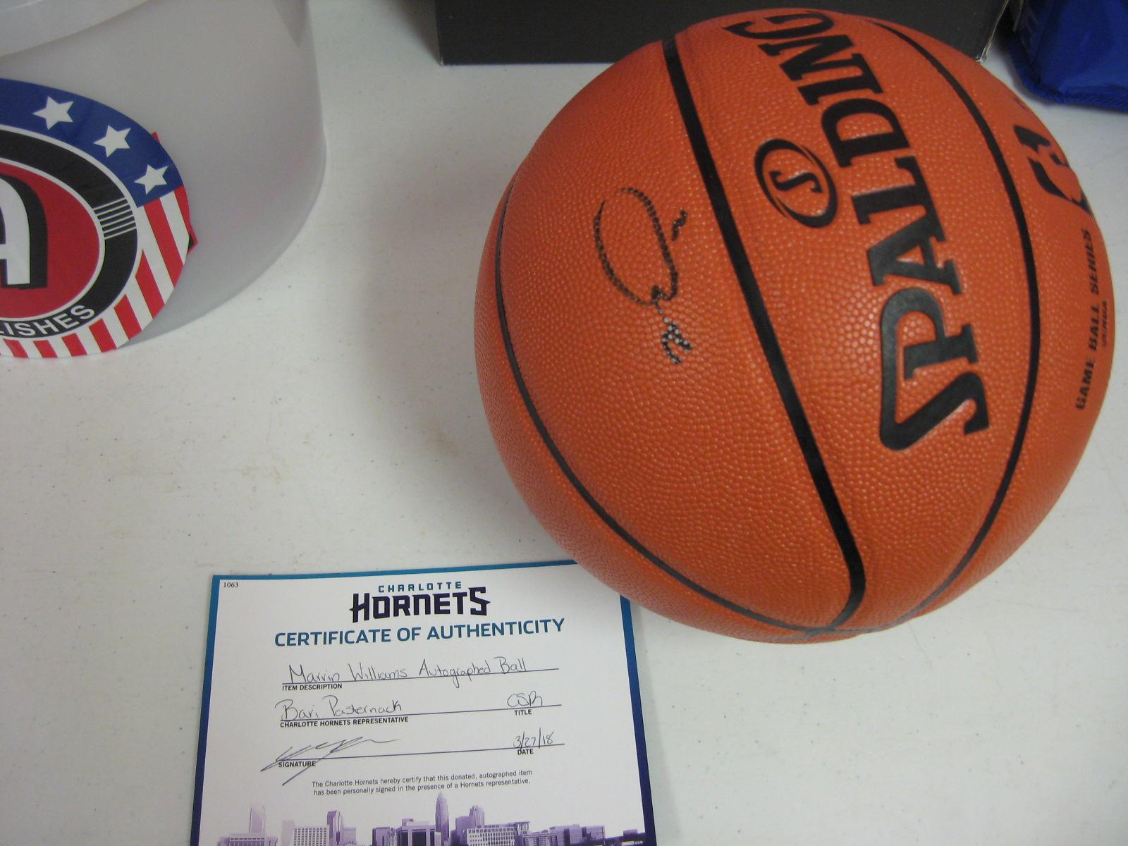 Marvin Williams Signed NBA Basketball