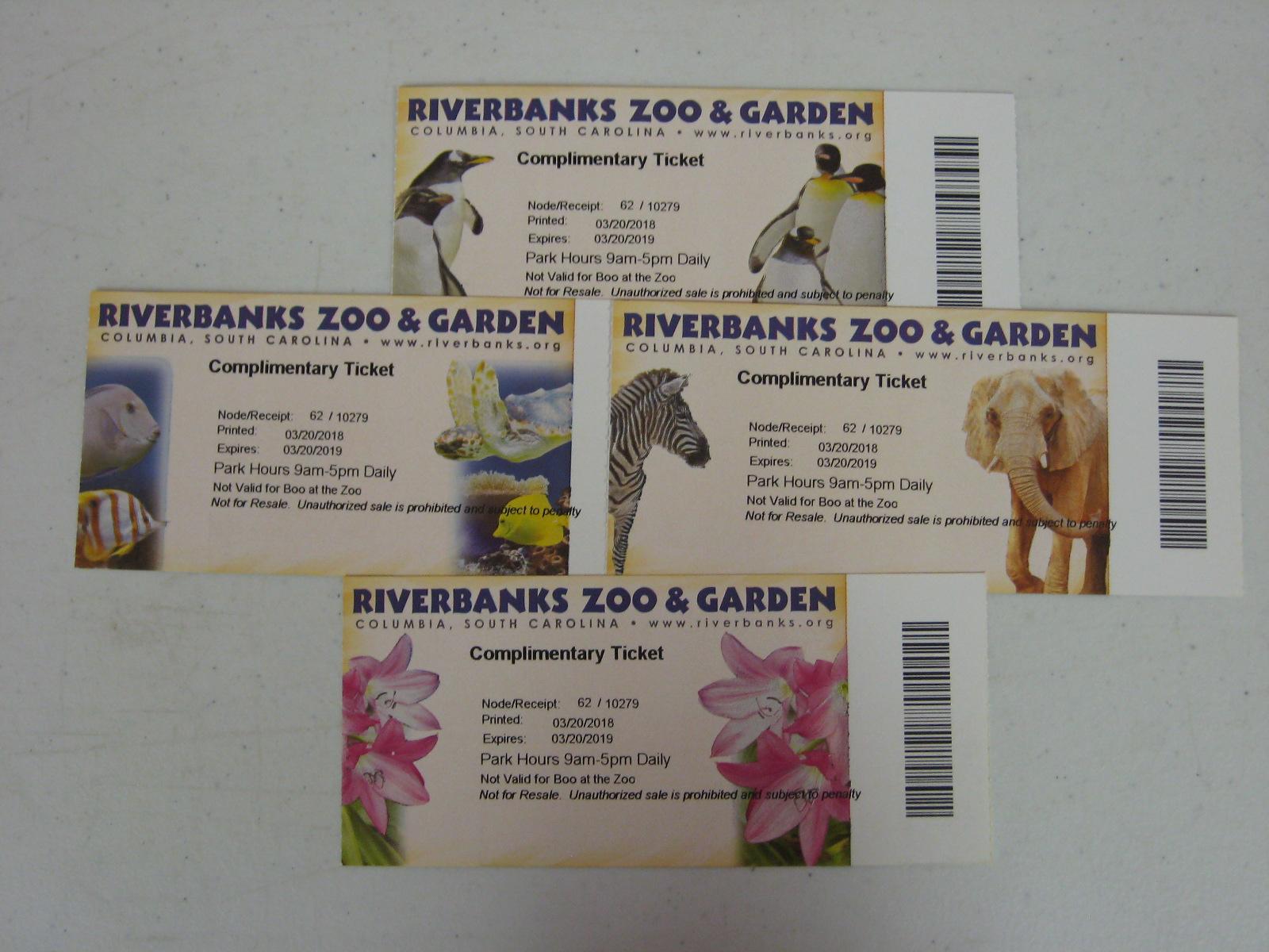 4 Tickets to Riveranks Zoo & Garden