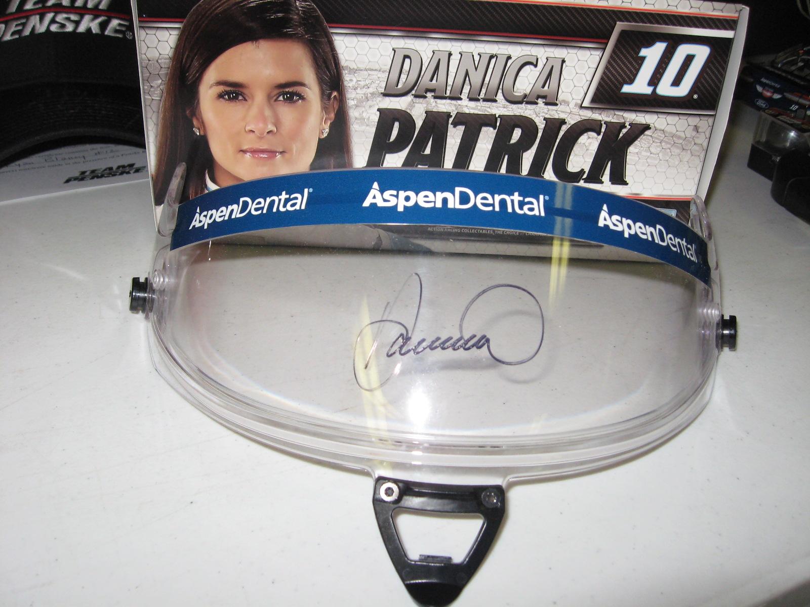 Danica Patrick Signed Race Worn Helmet Visor