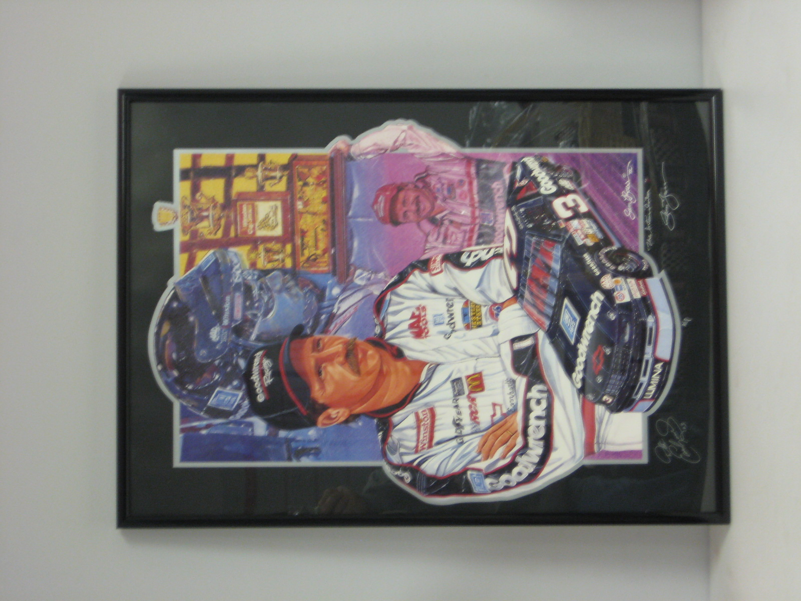 Custom Framed Dale Earnhardt The Intimidator Print