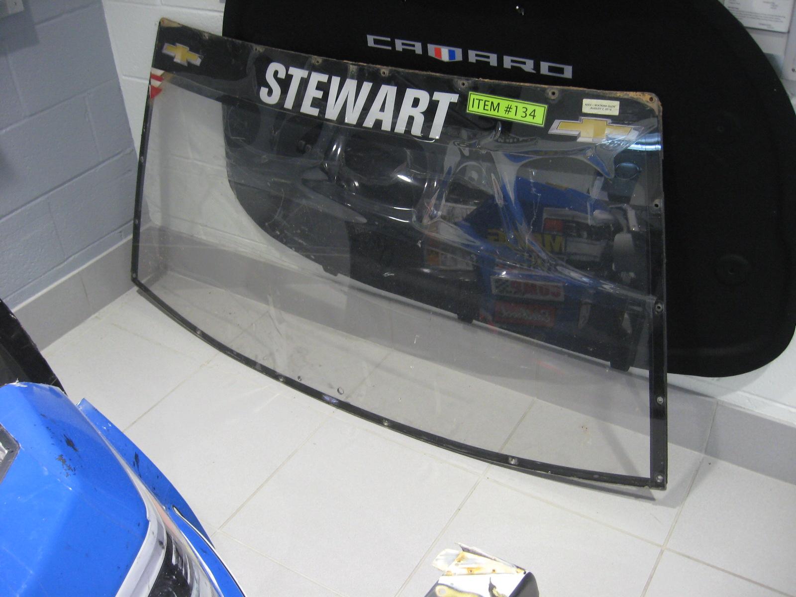 Tony Stewart Windshield from Watkins Glenn Race in 2016