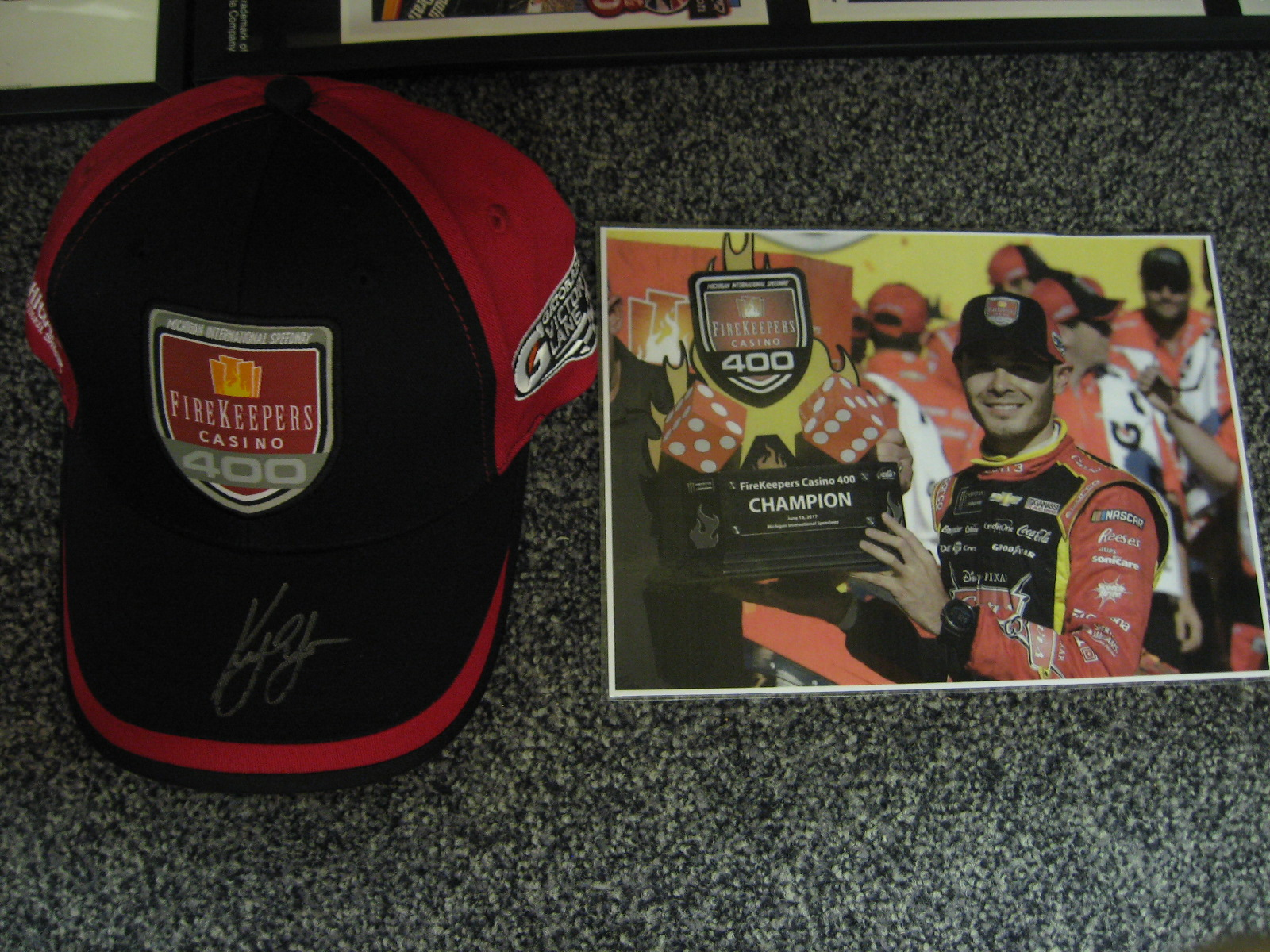 Autographed Kyle Larson Hat from His Victory
