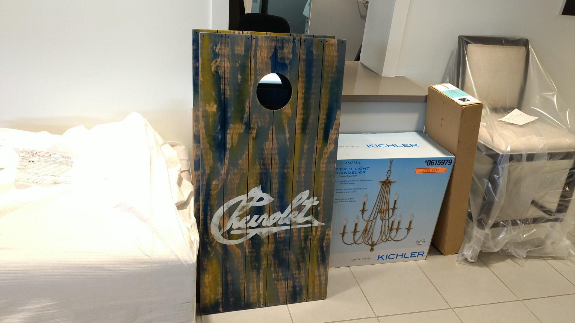 Custom Built Chevy Cornhole Boards