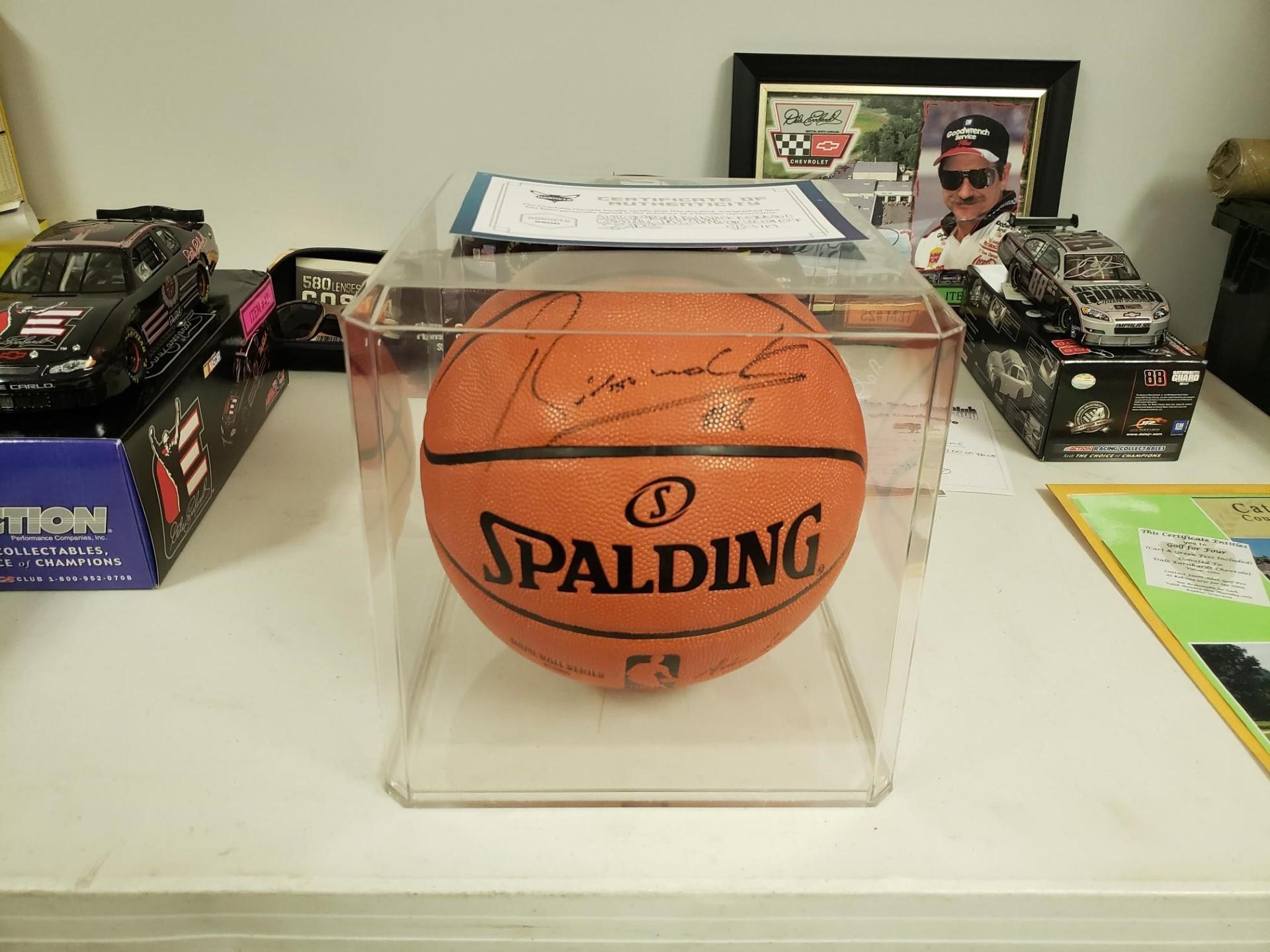 Signed NBA Basketball by Charlotte Hornets' Bismack Biyombo