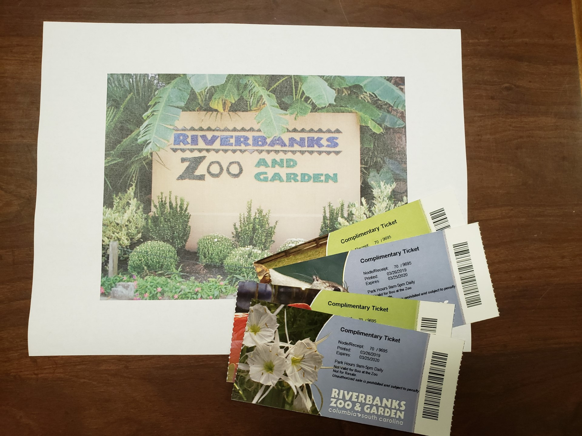 4 Riverbanks Zoo Tickets