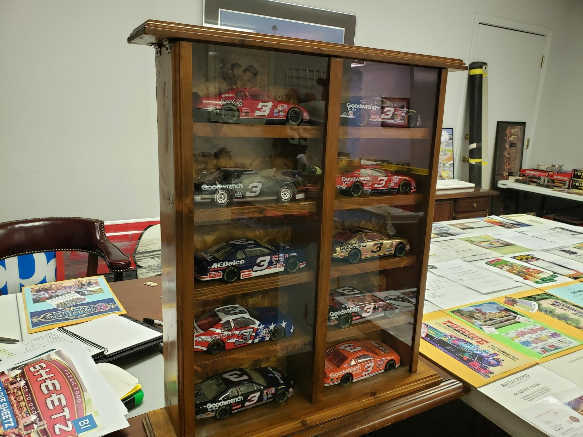 Custom Built Case with 10 Dale Earnhardt Die Casts