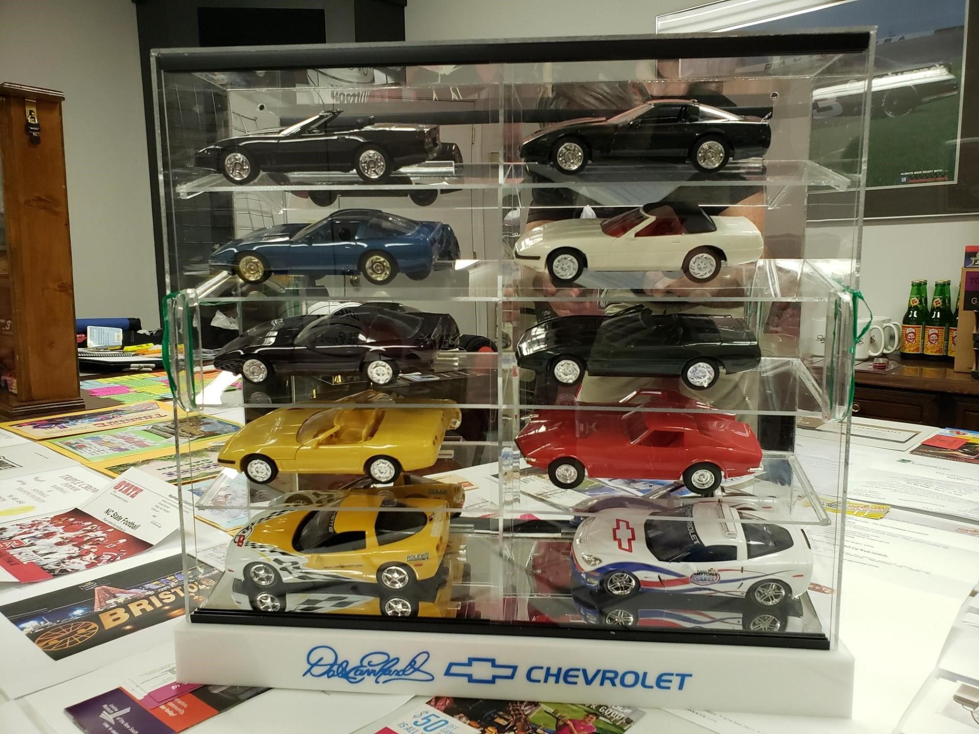 Promo Chevy Corvette Die Casts in Dale Earnhardt Chevrolet Case