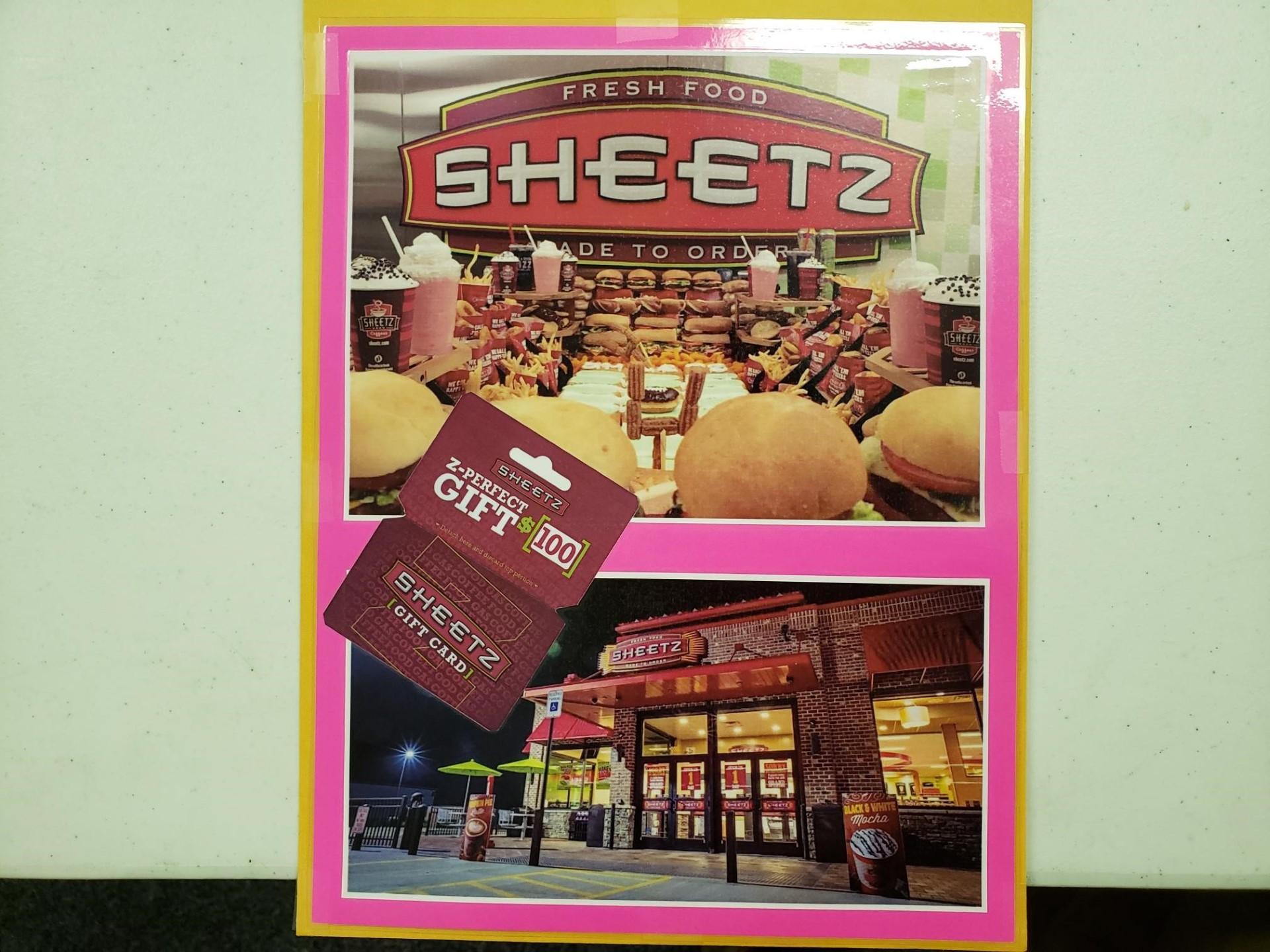 $100 Sheetz Gift Card