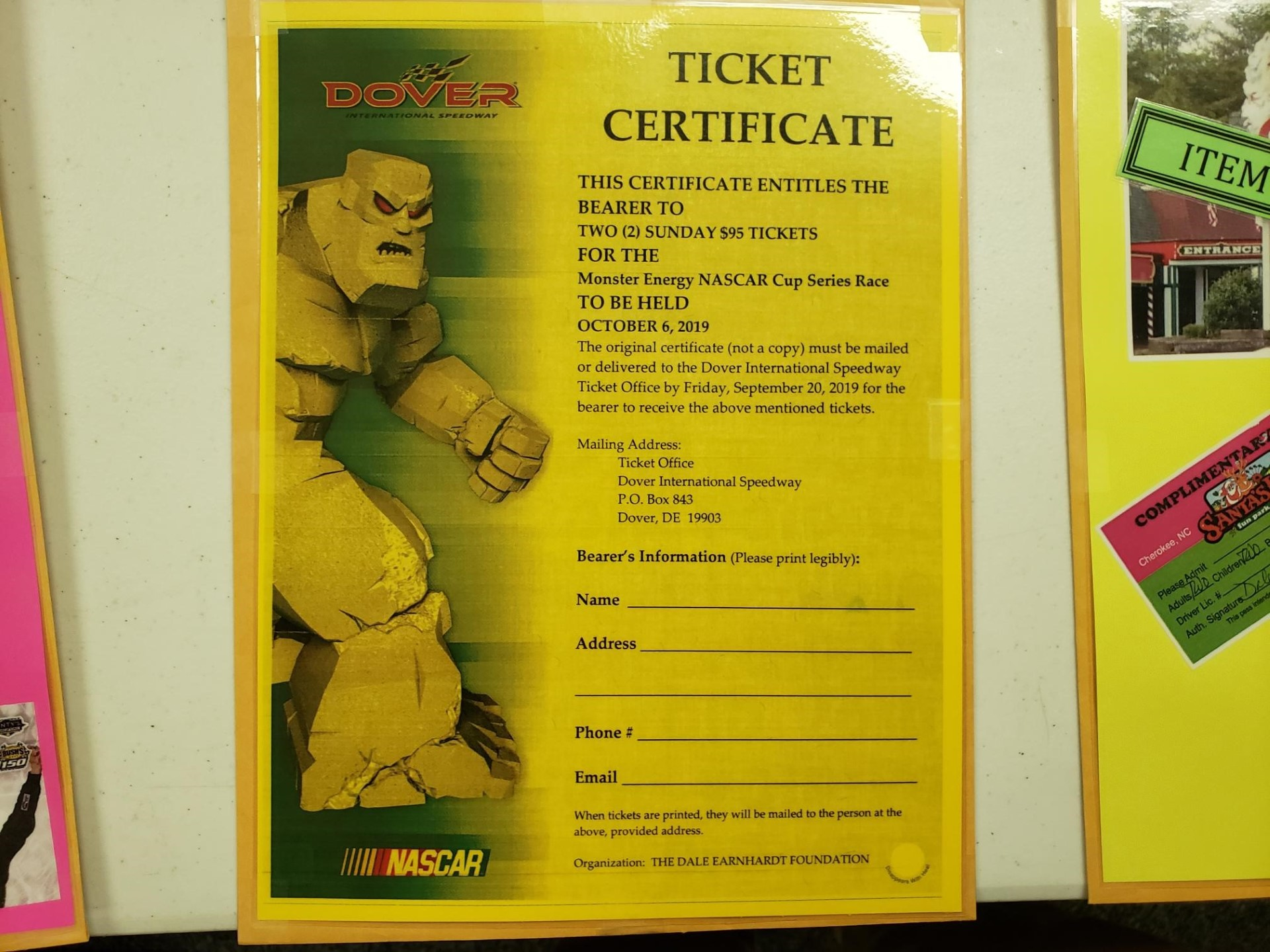 2 Tickets to Dover Cup Race