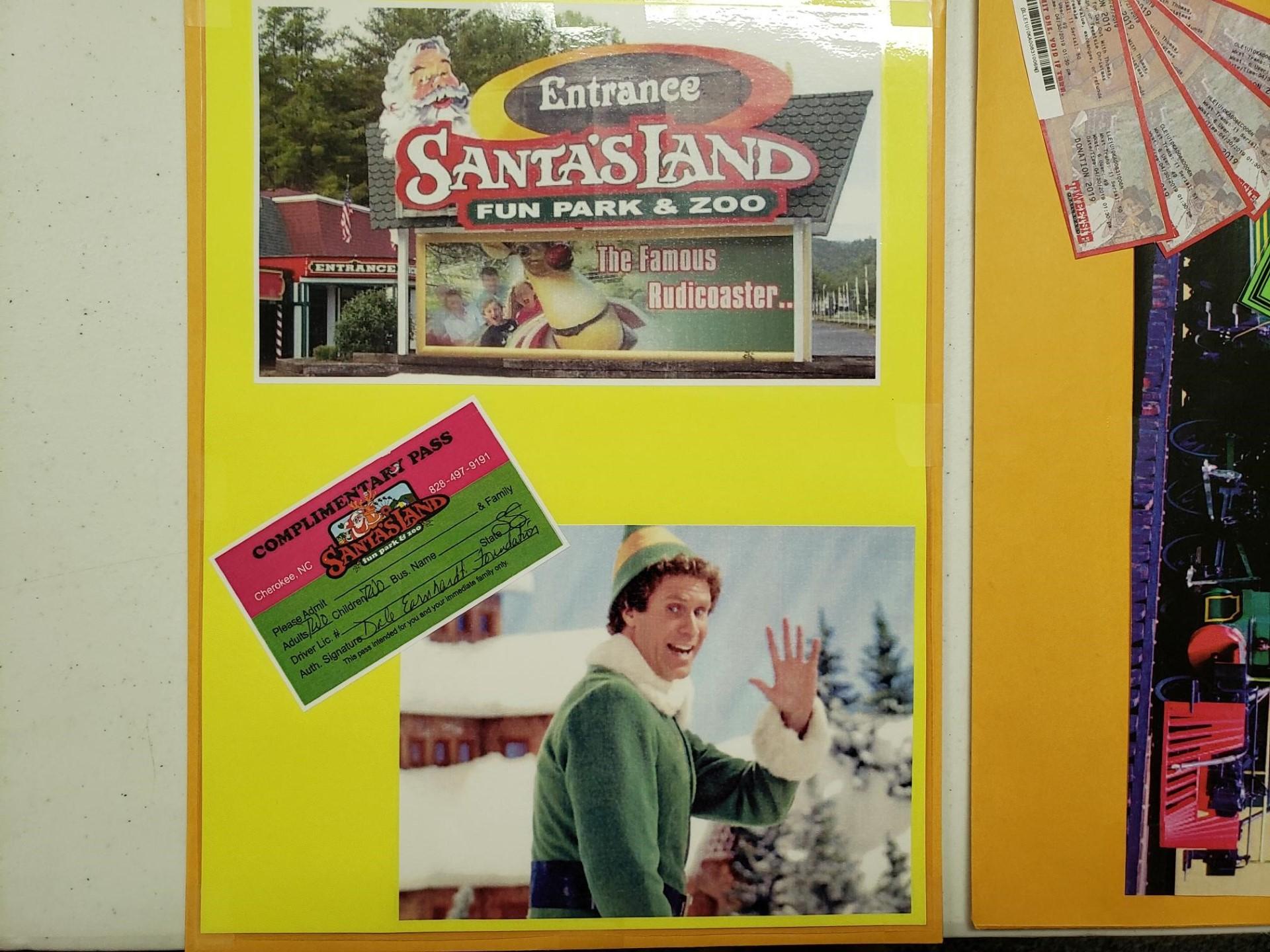 4 Santa Land Passes