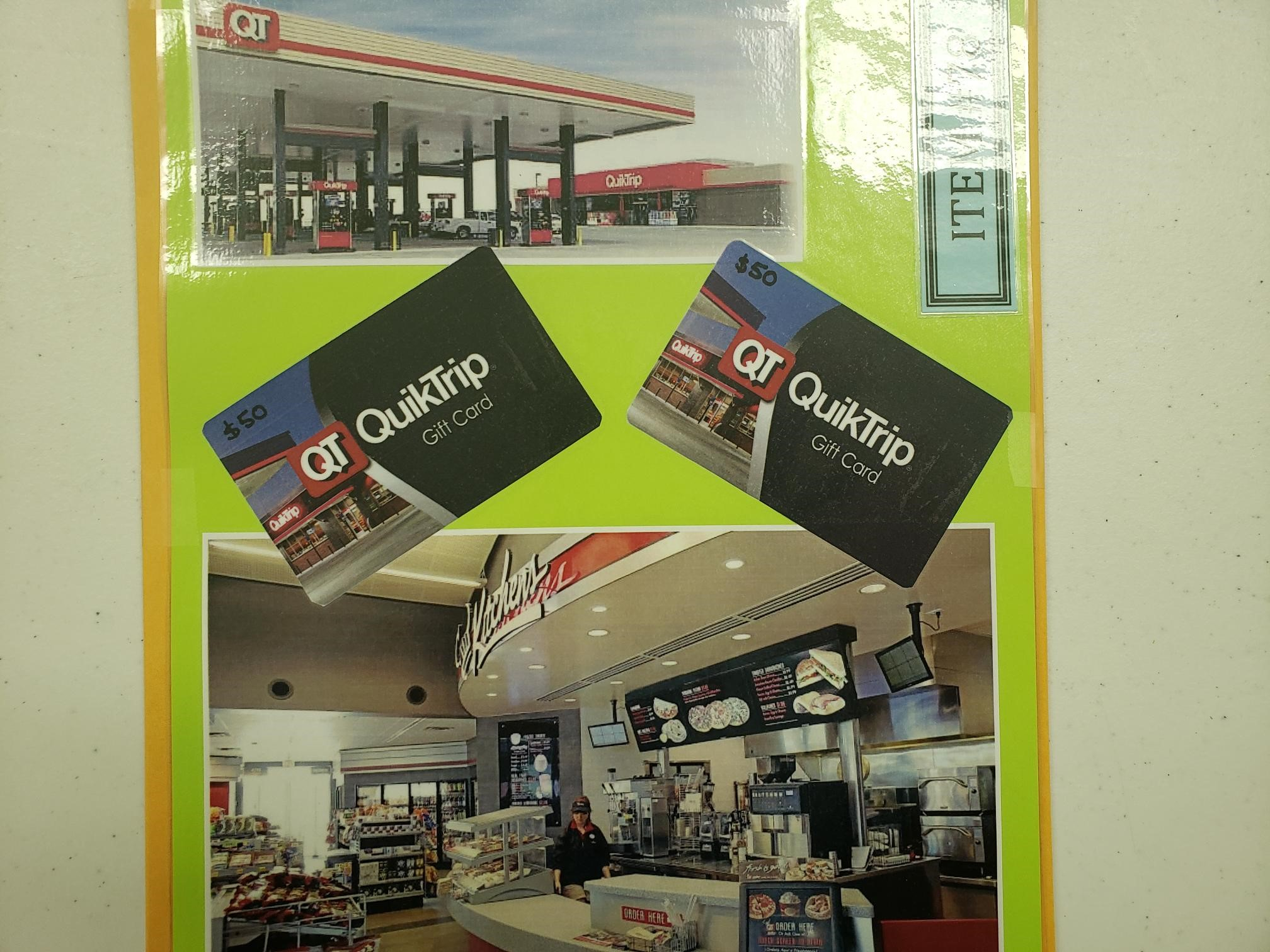 2 $50 QuickTrip Gift Cards