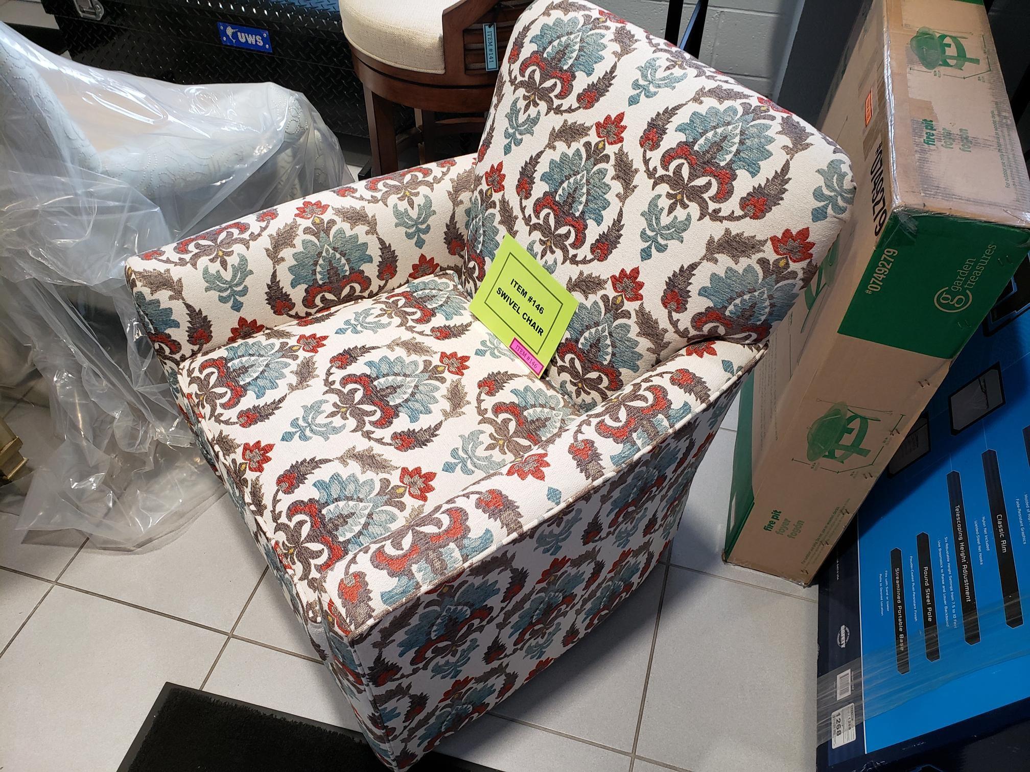 Upholstered Swivel Living Room Chair