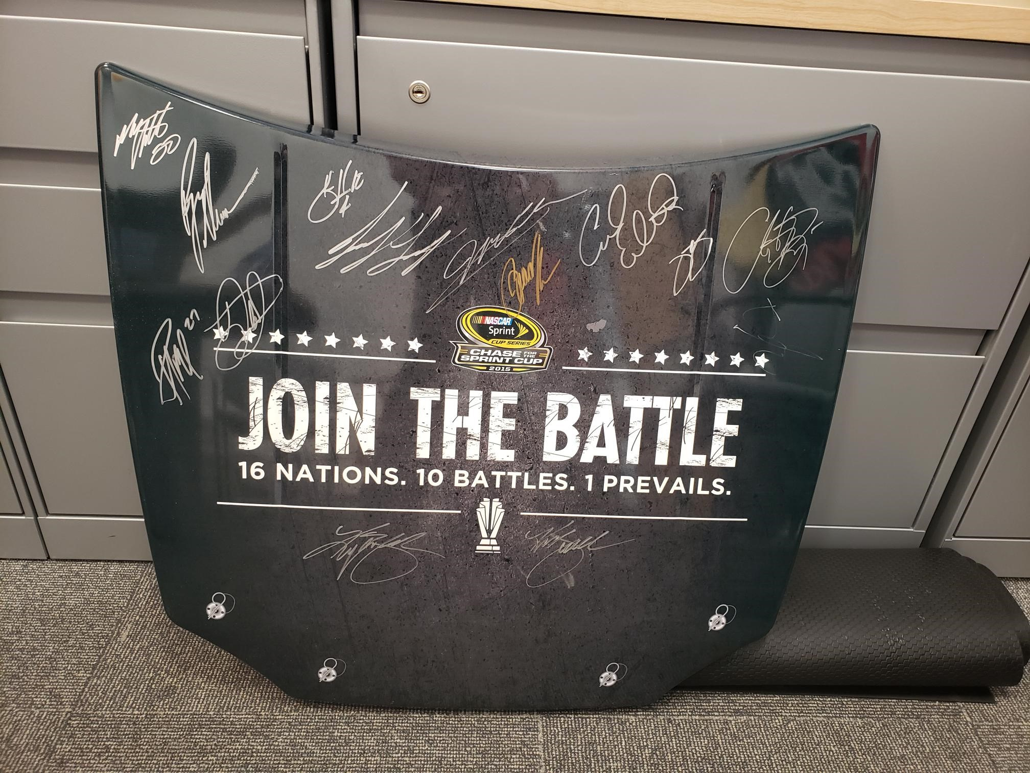 Signed 2015 NASCAR Sprint Cup Series Playoff Drivers Replica Hood